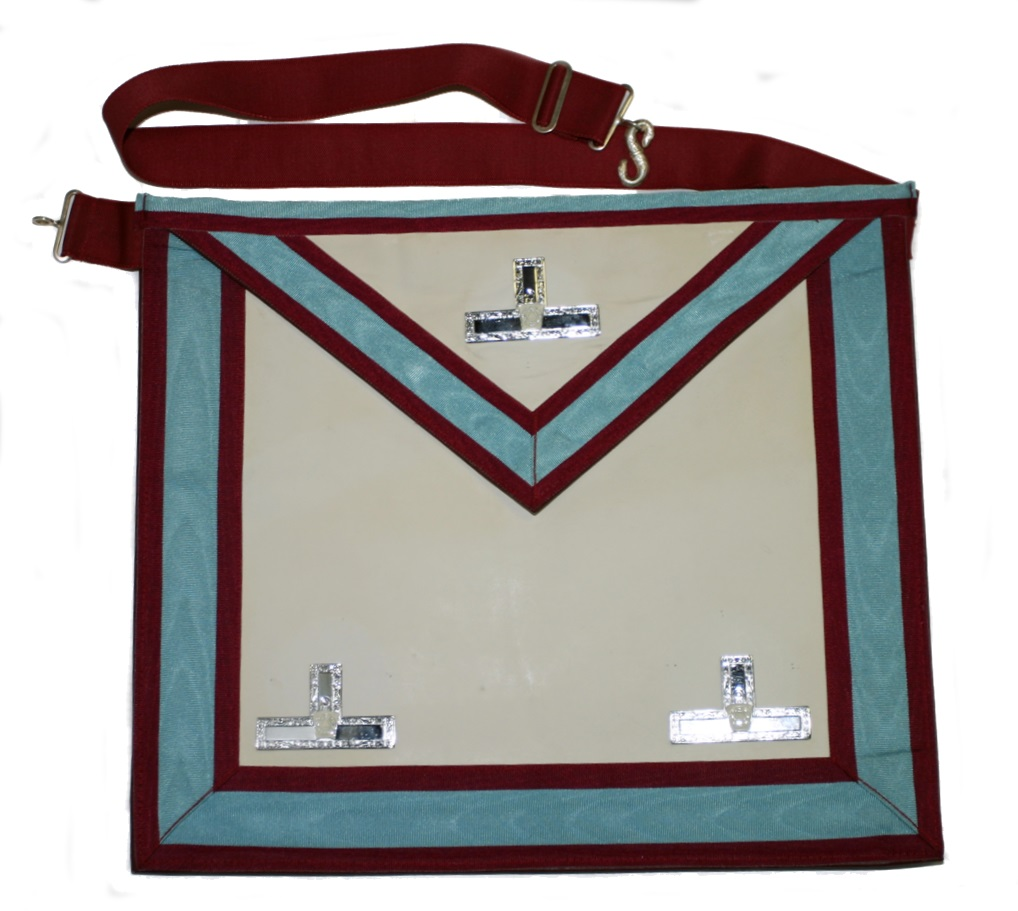 White lambskin apron